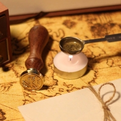 Triple Spiral Wax Seal Stamp and Sealing Wax