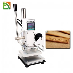 Hot foil stamping machine for leather paper wood plastic